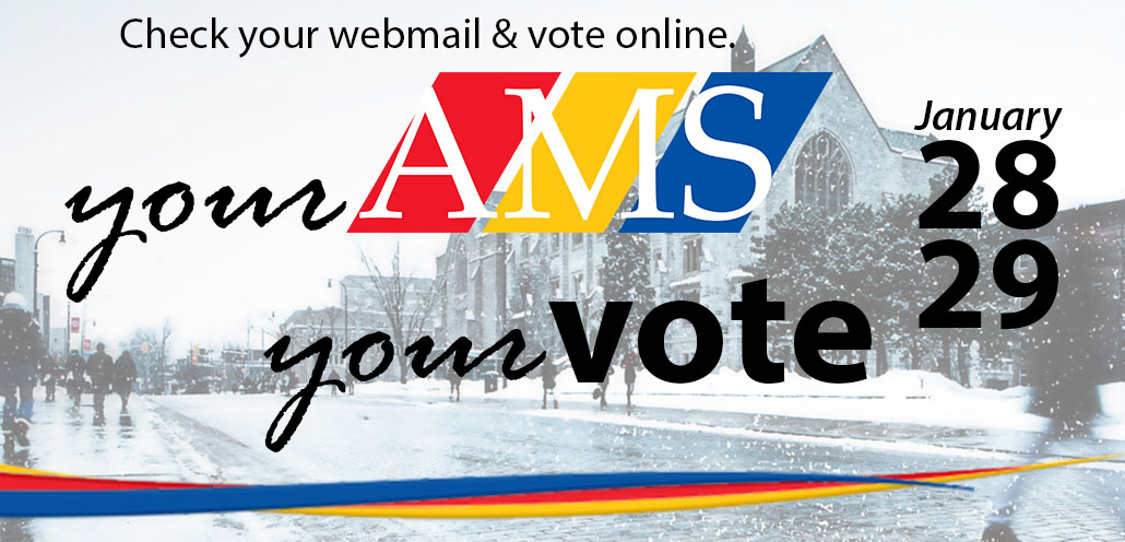 AMS Election awareness banner