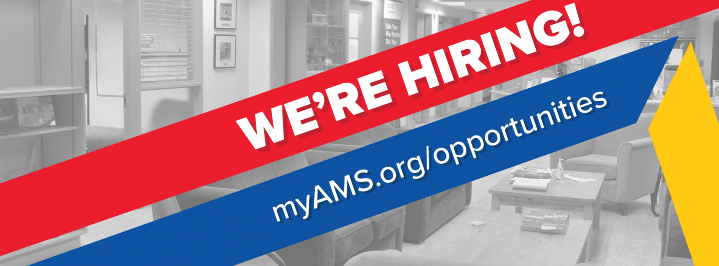 We're hiring! myAMS.org/opportunities